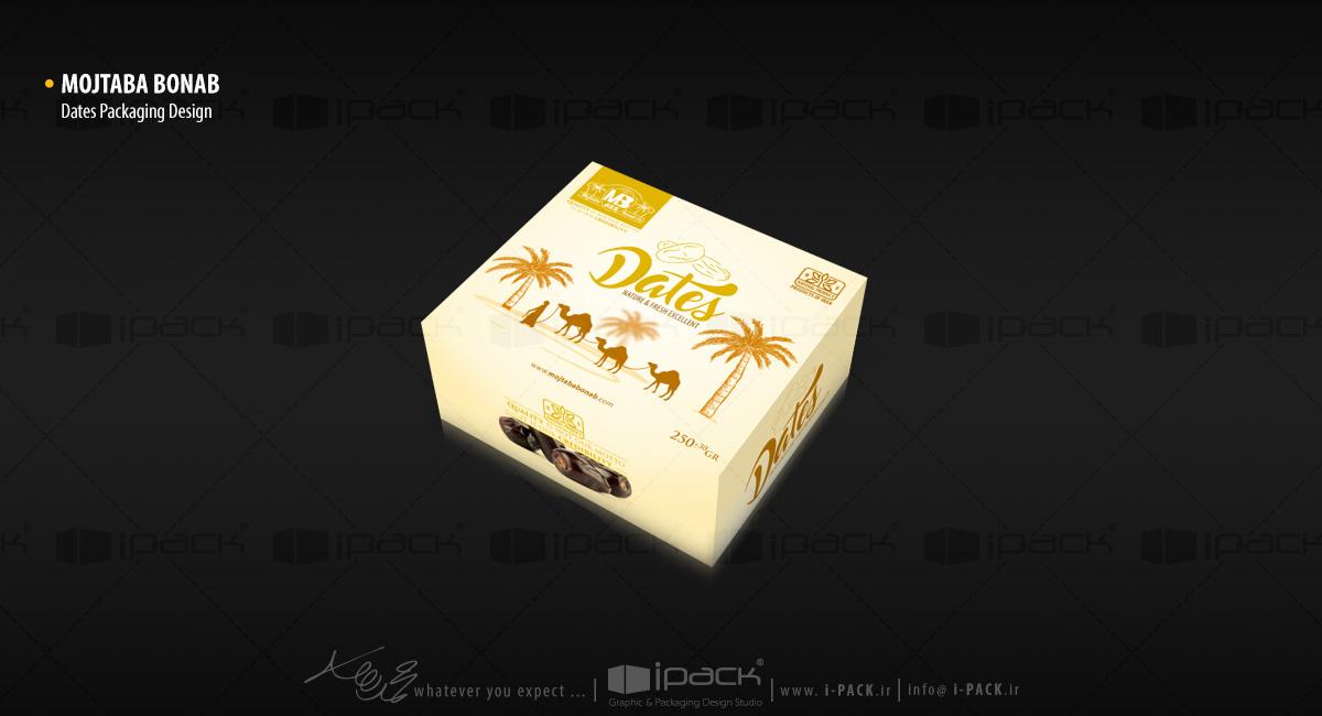 طراحی بسته بندی خرما مضافتی مجتبی بناب MB dates packaging