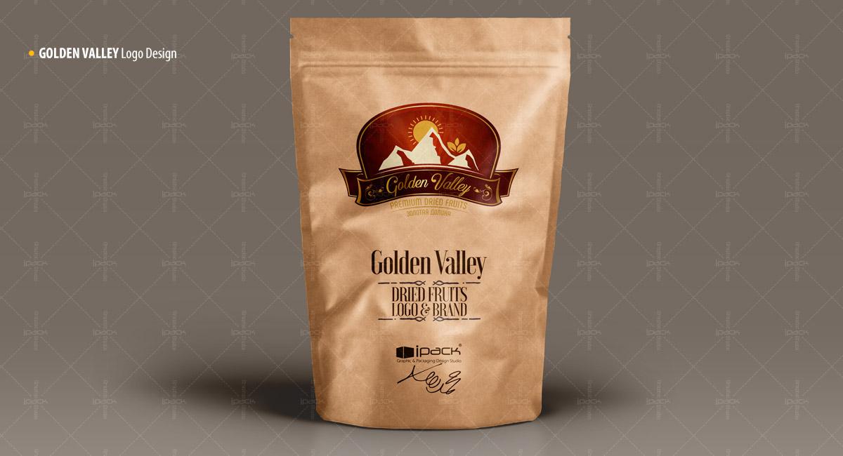 طراحی لوگوی خشکبار گلدن والی golden valley dried fruits